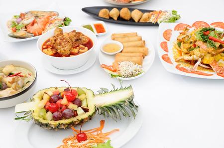 Set van de populaire menu Thais eten