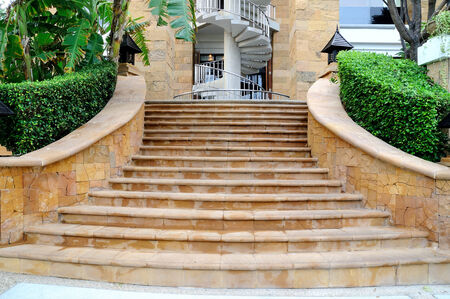 Beautiful and classic stairs with curve balustrade.