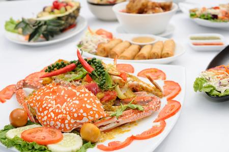 Set of Thai food popular menu photo