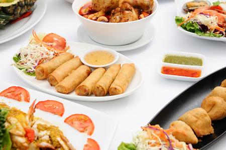 Set of Thai food popular menu