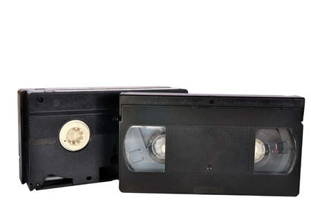 vhs videotape: Classic Video tape isolated on white background, clipping path included.