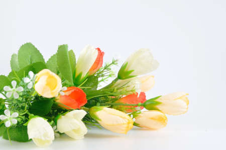 artificially: Nice bouquet flowers for house decoration, Artificially. Stock Photo