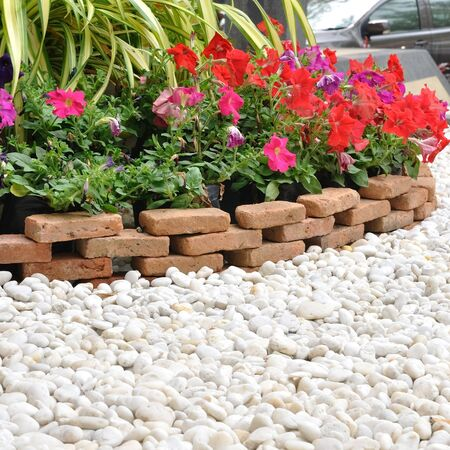 Garden decoration with white rock and flowers stock photo picture garden decoration with white rock and flowers stock photo 38654855 mightylinksfo