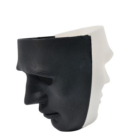 Black and white masks like human behavior, conception