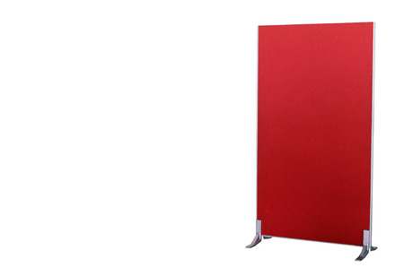 screen partition: Red partition board isolated on white background with clipping path