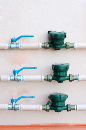 meters: Water meters and motorised valve
