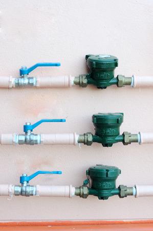 meters: Water meters and motorised valve