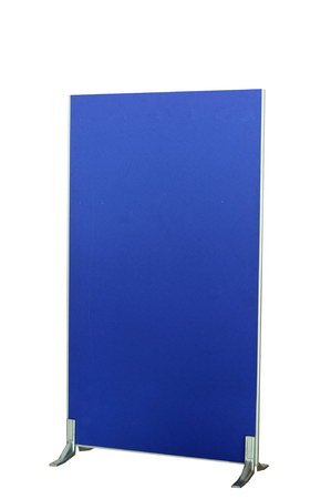 screen partition: Dark blue partition board isolated on white background with clipping path Stock Photo