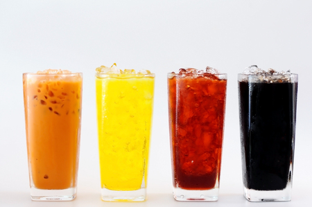 refreshment: Many Thai beverages for refreshment. Stock Photo