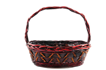 ruby red: Ruby red basket isolated on white background.
