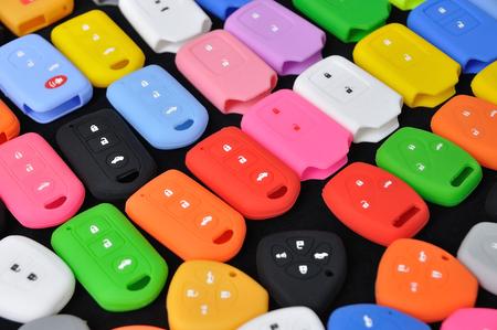 multi color: Multi color silicone rubber car remote control.