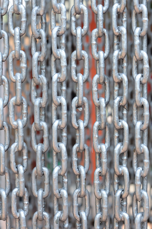 safty: Chains curtain for safty, pattern and background. Stock Photo