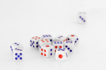 odds: Dices for play game, business concept Stock Photo