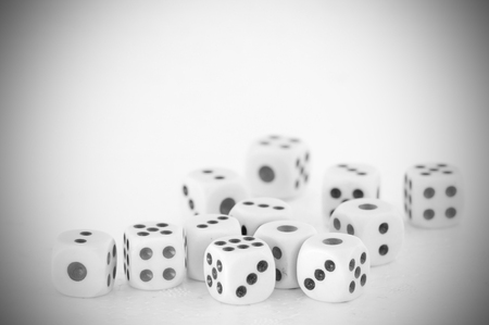Dices for play game, business concept Stock Photo
