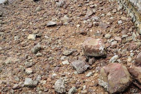 nearly: Many rough stones nearly beach Stock Photo