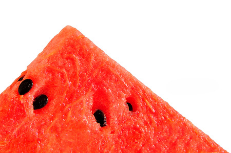 Piece of watermelon on white background