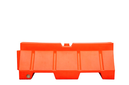 barrier: Plastic barrier isolated Stock Photo