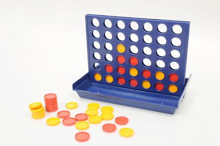 Wisdom game, connect 4 voor de ontwikkeling van de hersenen Stockfoto