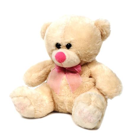 bear doll: Single teddy bear doll on white background