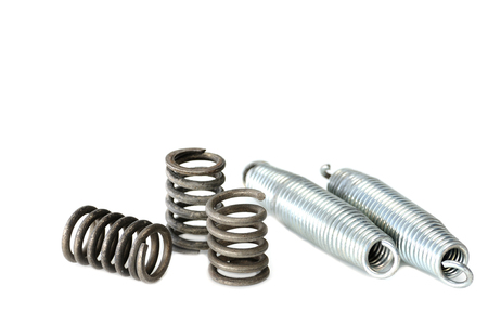 Coil spring on white background Stock Photo