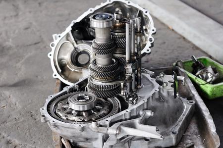 Spare part of transmission car system Standard-Bild