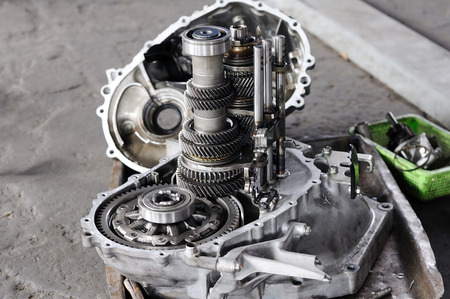 Spare part of transmission car system Stock Photo