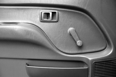 Car Door Inside With Door Handle And Manual Door Window Regulator ...