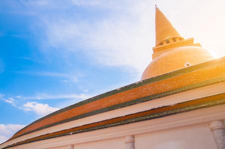 Phra Pathommachedi, Big Buddhism pagoda in Thailand.
