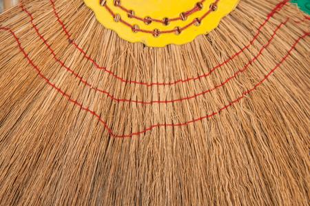 Close up Vintage broom grass texture. Stock Photo