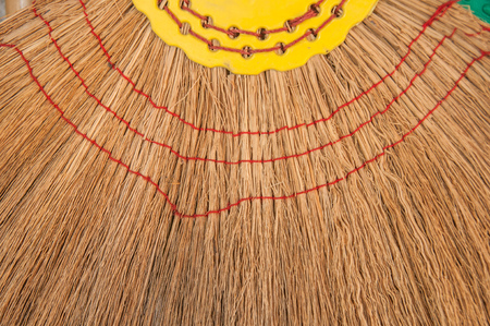 sweeper: Close up Vintage broom grass texture. Stock Photo