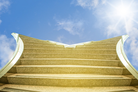 Business conception, Splitting two way going up stair for business and people decision