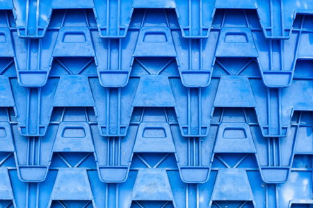 Background texture and lining for blue plastic box.