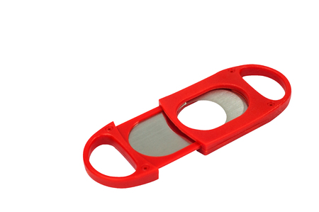Red cigar cutter isolated with clipping path.