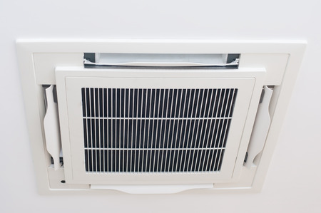 Modern ceiling air condition install on house ceiling, modern technology.