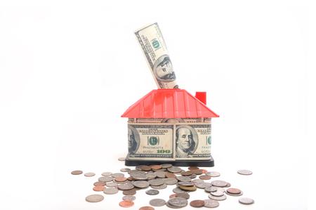 House Mortgage saving and insurance conceptual, saving for new house.