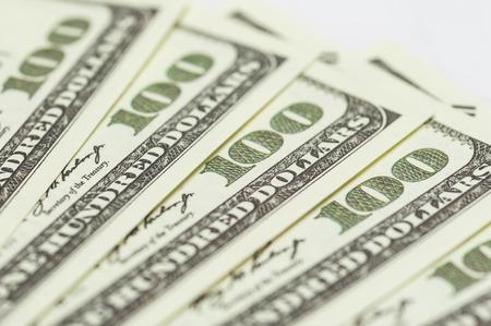 Close up dollar banknotes, money market bankrupt concept. 免版税图像