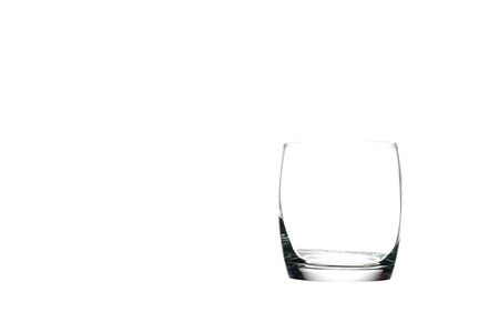 Whisky glass isolate on white,