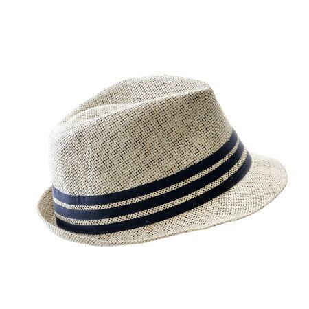 Straw hat isolated on white background, summer hat vintage fashion. Reklamní fotografie