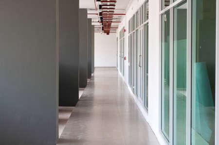 walkway Corridor inside of building with co-working room
