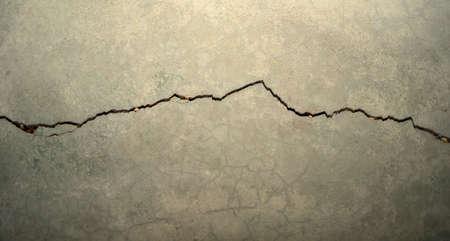concrete: cracking concrete Stock Photo