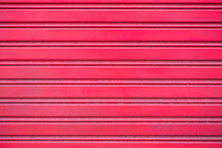 Pattern of red roll up door photo