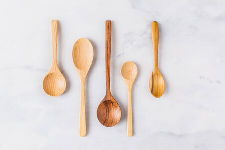 kitchen tool: Various types of wooden spoons