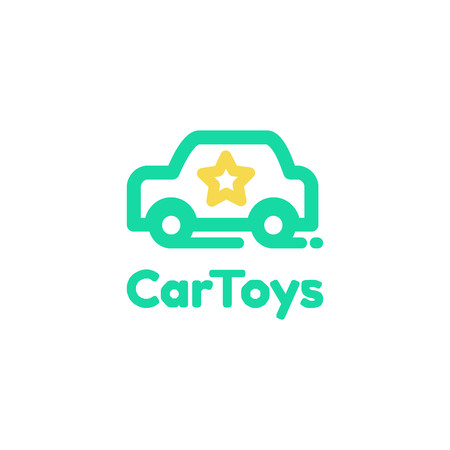 Car toys logo template, vector illustration.