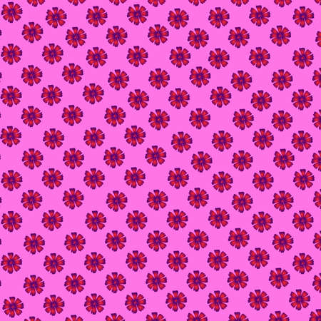 Flower pattern: pink and purple small flowers of a cosmece on a pink background.