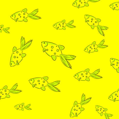 A stylish youth summer pattern in a marine style.