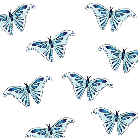 Beautiful texture animal print - butterflies. Wings are light blue color with a beautiful indigo pattern. Stylish summer print.