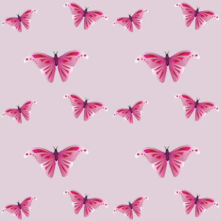 Beautiful texture: animal print - butterflies. Wings of an insect with beautiful pattern. Stylish gentle print. Illustration