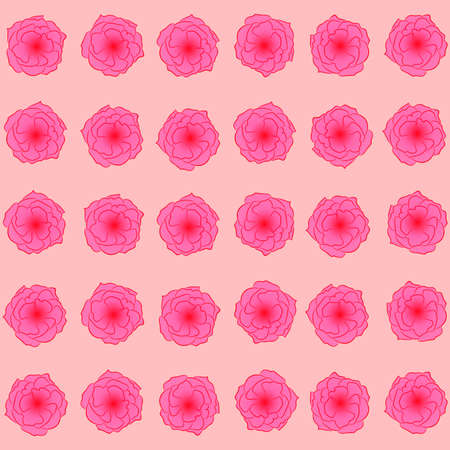 Flower pattern: pink buds of roses on a light peach background, beautiful spring pattern.
