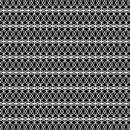 Abstract symmetrical texture: white lines on a black background. Ilustração