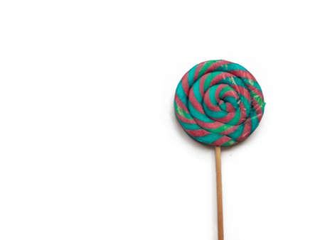 Multi-colored Lollipop isolated on a white background. Imagens